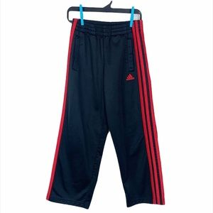 Adidas Active Youth Black Red Stripes Sweat Pants